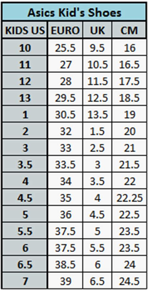 asics shoe size chart what size to buy myfootyboots au football boots