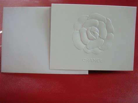 Chanel Gift Card - authentic chanel stationery set of 5 embossed camellia flower chanel logo blank