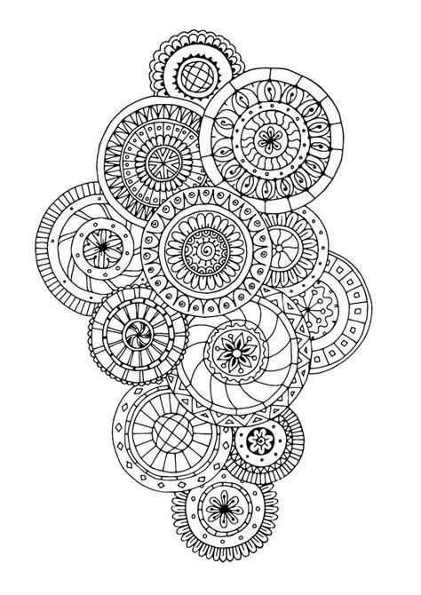 anti stress malen pinterest coloring mandalas and les 25 meilleures id 233 es de la cat 233 gorie mandalas sur