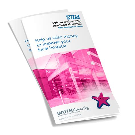 leaflet design wirral wirral university teaching hospital nhs ft charity