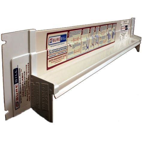 exterior door pan suresill 1 3 8 in x 42 in white pvc sloped for door and window installation and
