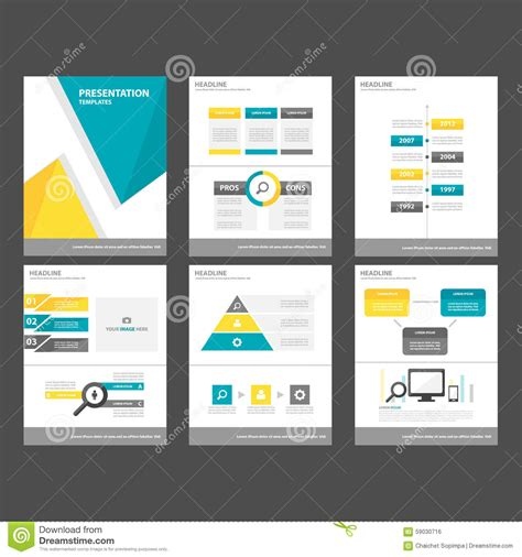 element layout template is not supported yellow blue polygon infographic element and icon