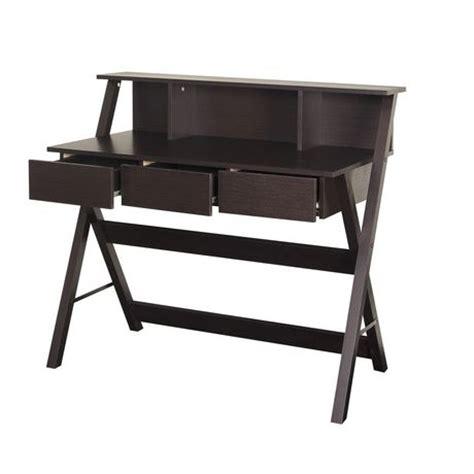 Low Profile Desk Hutch by Corliving Wfp 770 D Folio Modern Wenge Three Drawer Desk