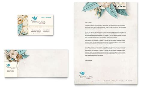 caign cards template hospice home care business card letterhead template design