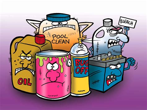 toxic household chemicals paint and household hazardous waste cloud city