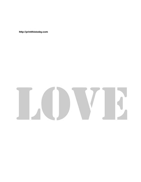 printable letters love 9 best images of printable love word stencil free