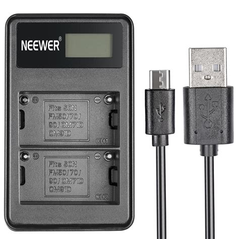 Sony Bc Qm1 Compact Battery Charger Non Original neewer portable dual battery charger for sony rechargeable np f550 battery ebay
