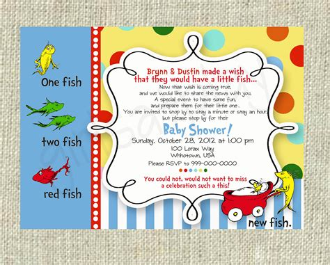 baby shower invitation new free printable dr seuss baby dr seuss baby shower invitation one fish two fish boy or