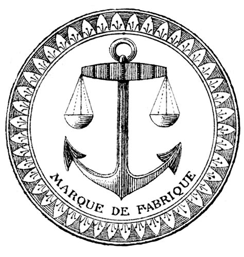 boat in a jar drawing vintage clip art french label anchor round frame the