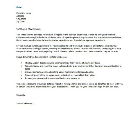Resume Cover Letter Free Sles by Proper Cover Letter For Resume 28 Images How To Make