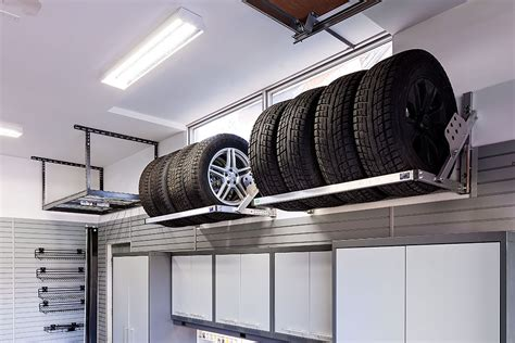 Tire Rack Design by Garage Overhead Storage