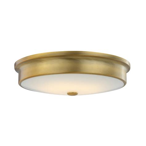 Brass Flush Ceiling Light Deckenle Fifth And Lighting Versailles 15 In Aged Brass 25 Watt Integrated Led Flushmount With