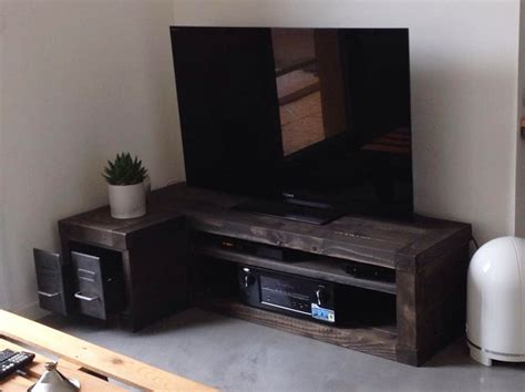 meuble d angle industriel 2138 meubles tv industriel bois et m 233 tal l or du temps