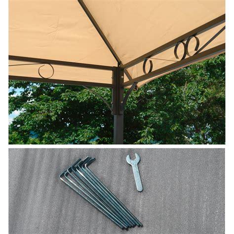 gartenpavillon metallpavillon  meter beige gartenzelt