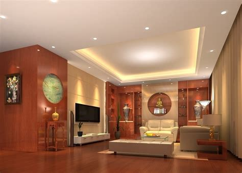 ceiling and wooden wall design for living room 3d house