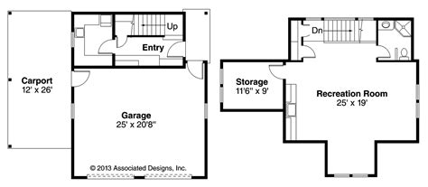 rec room floor plans cottage house plans garage w rec room 20 111 associated designs