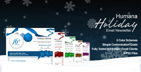 Free And Premium Christmas Html Email Newsletter Templates Designmodo Wishes Email Template