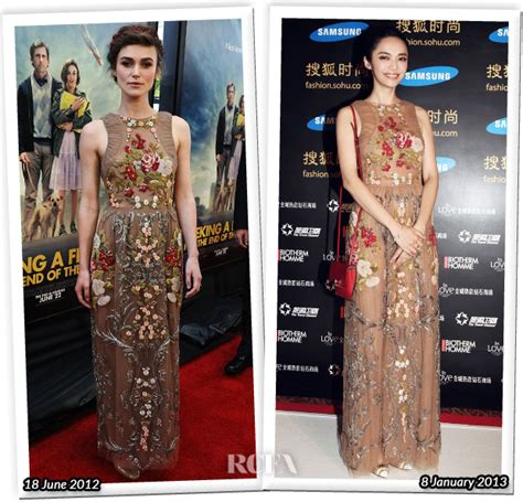 Who Wore Better Carpet Style Awards by Who Wore Valentino Better Keira Knightley Or Yao Chen