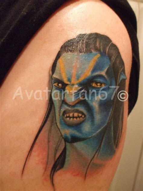 avatar tattoos avatar jake sully in color by rockermisstammy on