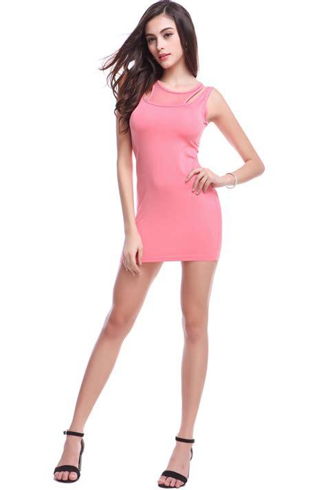 Korea Pink Stelan Sleveeless Pink wholesale korean summer sleeveless pink dress