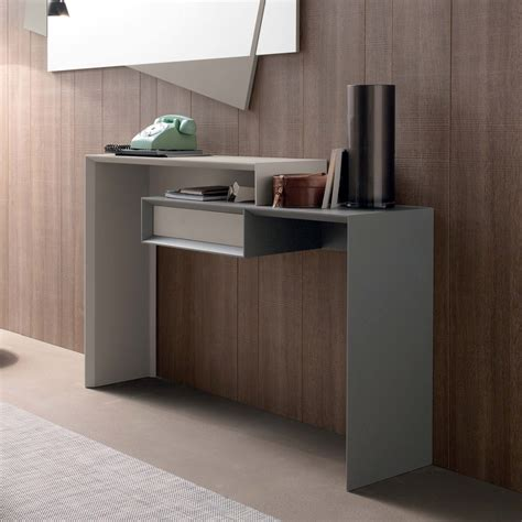 ingresso moderne consolle moderna con cassetto in mdf laccato opaco holden