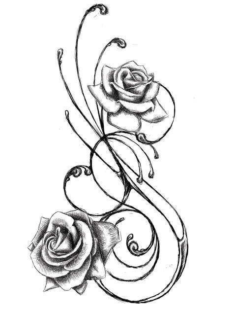 flower tattoo outline designs flower designs the is a canvas