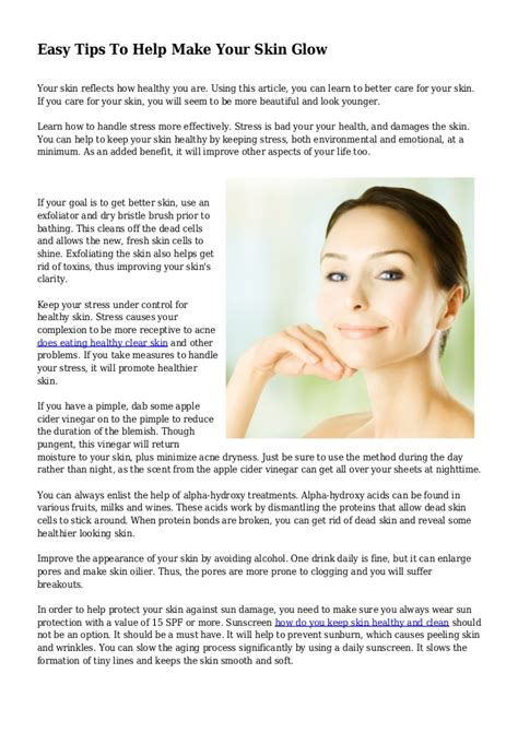 7 beauty tips make your skin glow and smooth fashion easy tips to help make your skin glow