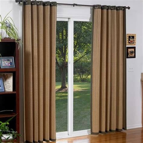 Blinds Com Woven Wood Grommet Panel Contemporary Bamboo Vertical Blinds Sliding Glass Doors