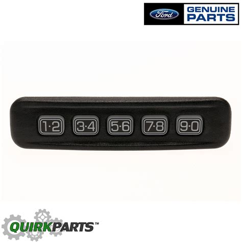 ford lincoln left driver door keyless entry number keypad