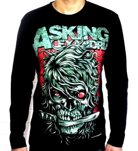 Sweater Asking Alexandria 2 Station Apparel details about asking alexandria rock metal skull sleeve t shirt shirts new size m and l