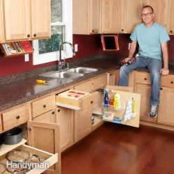 Organization tips show how to turn empty space in kitchen cabinets
