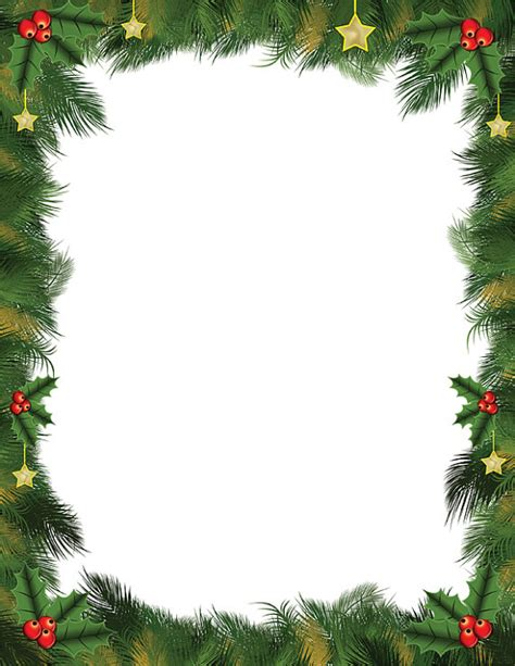 Christmas Leaves Border in Photoshop Pentool vector