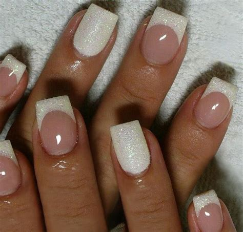 25  best ideas about White Tip Nails on Pinterest   French