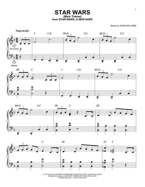 theme song star wars star wars main theme sheet music direct