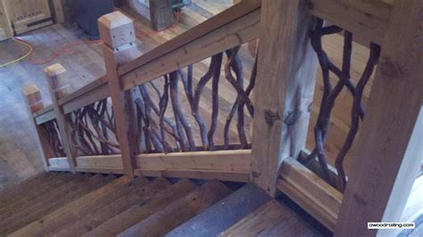 wood stair banisters grand entry railing artistic handrails on balcony and stairs