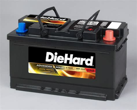 battery car diehard gold agm automotive battery group size ep 94r