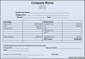 Free Salary Slip Template by Salary Slip Template Excel Pdf Formats