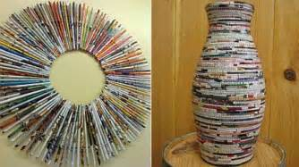 interesting home decor interesting home d 233 cor stuff made from recycled magazines