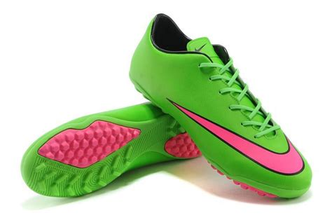 nike mercurial victory tf x football boots green pink