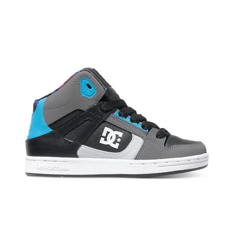 dc shoes kid s 4 7 rebound ken block high top shoes adbs100145 dc