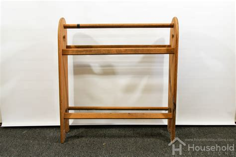 Quilt Rack by Wood Quilt Rack Household Auctions