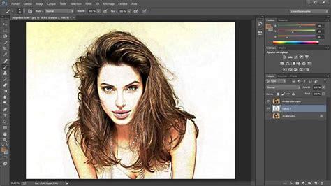 tutorial youtube gratuit tuto gratuit dessin au crayon de couleurs avec photoshop