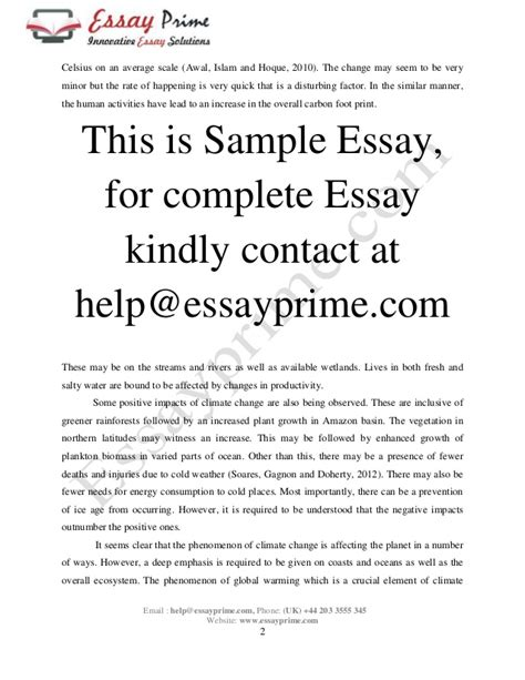 global warming sle essay essay on global warming doc