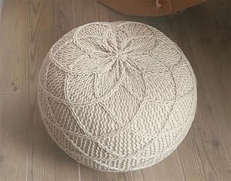 knitted pouf pattern free lovely rombo pouf footstool bean bag 116 knitting pattern