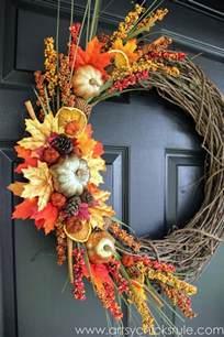diy fall wreath fall themed tour artsy chicks rule 174