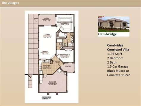 the villages floor plans the villages homes courtyard villas cambridge model