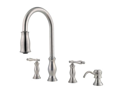 price pfister hanover kitchen faucet pfister f 531 4tms hanover two handle kitchen faucet with
