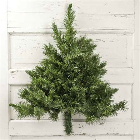 wall mounted half artificial pine tree trees and toppers