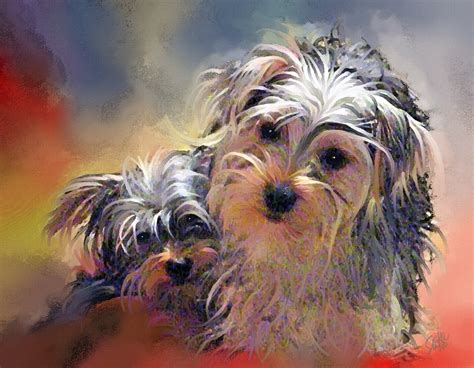 puppy painting paintings of artists original painting of