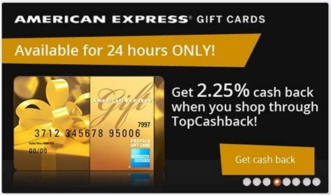 Topcashback Gift Cards - amex gift cards 2 25 cash back today only frequent miler